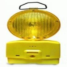 Lampara Señalización Tráfico Amarillo c/Batería
